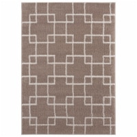 United Weavers of America 1840 20526 58 5 ft. 3 in. x 7 ft. 2 in. Tranquility Aaru Beige Rect