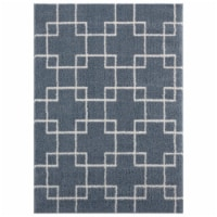 United Weavers of America 1840 20567 359 3 ft. 3 in. x 4 ft. 11 in. Tranquility Aaru Blue & G - 1