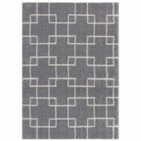 United Weavers of America 1840 20572 912 7 ft. 10 in. x 10 ft. 6 in. Tranquility Aaru Gray Re
