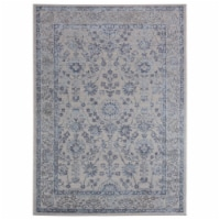 United Weavers of America 2601 10260 912 Cascades Shasta Blue Area Rectangle Rug, 7 ft. 10 in
