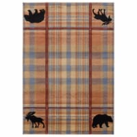 United Weavers of America 2055 40075 912 Cottage Nomad Multi Color Area Rectangle Rug, 7 ft.