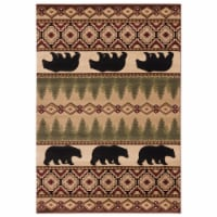 United Weavers of America 2055 40526 35C Cottage Faywood Beige Area Rectangle Rug, 2 ft. 7 in - 1