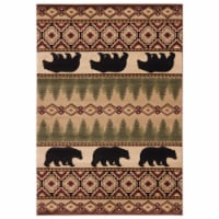 United Weavers of America 2055 40526 912 7 ft. 10 in. x 10 ft. 6 in. Cottage Faywood Rectangl - 1