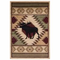United Weavers of America 2055 40626 35C Cottage Elka Beige Area Rectangle Rug, 2 ft. 7 in. x
