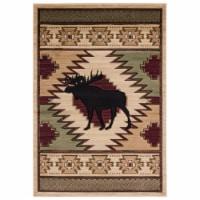 United Weavers of America 2055 40626 69 Cottage Elka Beige Area Rectangle Rug, 5 ft. 3 in. x