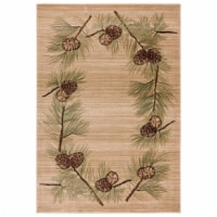 United Weavers of America 2055 40926 35C Cottage Farmington Beige Area Rectangle Rug, 2 ft. 7