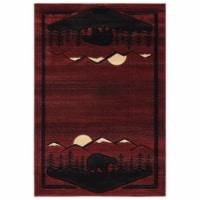 United Weavers of America 2055 41234 69 Cottage Treetops Burgundy Area Rectangle Rug, 5 ft. 3 - 1