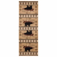 United Weavers of America 2055 41826 28C Cottage Timberland Beige Runner Rug, 2 ft. 7 in. x 7 - 1