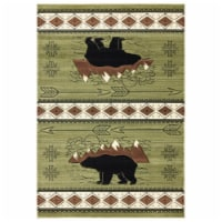United Weavers of America 2055 41845 35C Cottage Timberland Green Area Rectangle Rug, 2 ft. 7