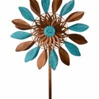 Red Carpet Studios 34420 Spinner Blue/Bronze Leaves