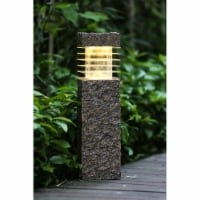 Winsome House Faux Rock Post with Solar Light