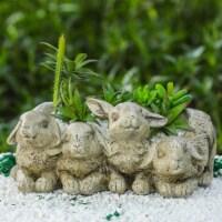 Luxen Home Bunnies Flower Pot