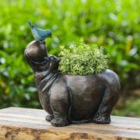 Luxen Home Hippo Flower Pot