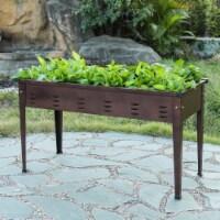 Luxen Home 39.5in Metal Rectangular Raised Garden Planter