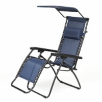 Luxen Home Zero Gravity Chair with Canopy Blue - 1