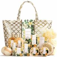 'Spa Gift Basket, Vanilla Gift Baskets for Women, Luxury 15 Pcs Bath Gift Set'' - 15x4x15