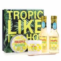 Pineapple Scent Spa Sets with Bubble Bath/Shower Gel/Soap, Bath Gift Set
