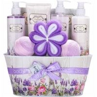 Spa Gift Baskets for Women,Rosewater &Lavender Home Spa Kit, 10 Pcs Birthday Gifts