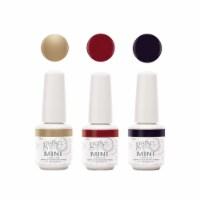 Gelish Mini Soak Off 3 Color Gel Nail Polish, Champagne & Moonbeams Collection - 1 Unit