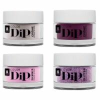 Red Carpet Manicure Dip Powder Kit Acrylic Nail Polish Set, 0.4 Oz Jar, 4 Colors - 1 Unit