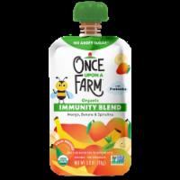 Once Upon a Farm™ Organic Mango Banana & Spirulina Immunity Blend Pouch - 3.2 oz