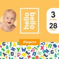 Hello Bello Size 3 Baby Diapers - 28 ct