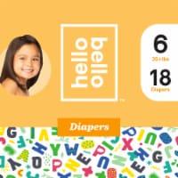 Hello Bello Size 6 Baby Diapers - 18 ct