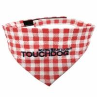 Bad-to-the-Bone' Plaid Patterned Fashionable Velcro Bandana - Medium / Red - 1