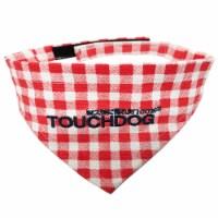 Bad-to-the-Bone' Plaid Patterned Fashionable Velcro Bandana - Large / Red - 1