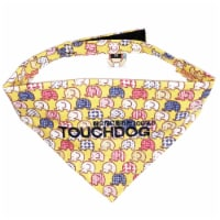 Bad-to-the-Bone' Elephant Patterned Fashionable Velcro Bandana - Small / Yellow - 1