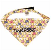 Bad-to-the-Bone' Elephant Patterned Fashionable Velcro Bandana - Medium / Yellow - 1