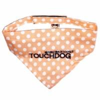 Bad-to-the-Bone' Polka Patterned Fashionable Velcro Bandana - Small / Orange - 1