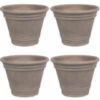 Sunnydaze Franklin Outdoor Flower Pot Planter - Beige - 20-Inch - 4-Pack