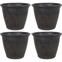 Sunnydaze Anjelica Outdoor Flower Pot Planter - Sable Finish - 24-Inch - 4-Pack - 4 Planters
