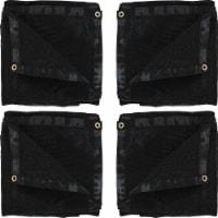 Sunnydaze 8' x 16' 4 Multi-Purpose UV-Resistant Polyethylene Mesh Tarps - Black