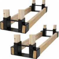 Sunnydaze DIY Log Rack Brackets Kit Steel Outdoor Adjustable Storage - Set of 2