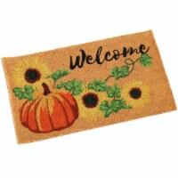 Sunnydaze 17-Inch x 29-Inch PVC and Coir Indoor/Outdoor Doormat - Pumpkin - 1 unit(s)