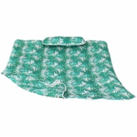 Sunnydaze Cotton Quilted Hammock Pad and Pillow - Green Palm Leaves - 1 unit(s)