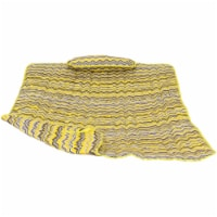Sunnydaze Cotton Quilted Hammock Pad and Pillow - Yellow and Gray Chevron