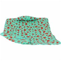 Sunnydaze Cotton Quilted Hammock Pad and Pillow - Watermelon and Chevron