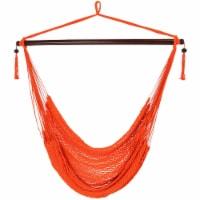 Sunnydaze Hanging Caribbean XL Hammock Chair - Orange