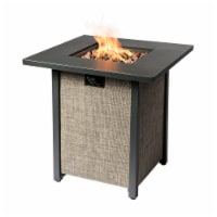 Peaktop Firepit Outdoor Gas Fire Pit Metal Fabric, Lava Rock, Cover HF28201AA - 1