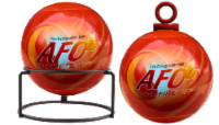 AFO Fire Extinguisher Ball - ABC Multipurpose Dry Chemical Fire Extinguisher-5', 3 lbs - 5'