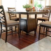 Home Aesthetics Bamboo 5' X 8' Floor Mat Area Rug, Walnut Color Floor Runner Rug - 1 each