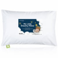 Hypoallergenic Toddler Pillow with 100% Cotton Pillowcase (Soft White)