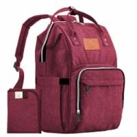 Original Diaper Backpack (Wine Red)