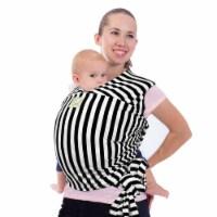 Baby Wrap Carrier (Black Stripes)