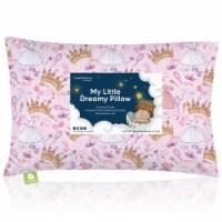 Hypoallergenic Toddler Pillow with 100% Cotton Pillowcase (Dear Princess)