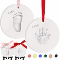 Baby Handprint Footprint Ornament Keepsake Kit (Multi-Colored Paint)