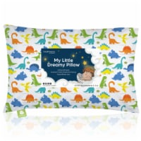 Hypoallergenic Toddler Pillow with 100% Cotton Pillowcase (Happy Dino)
